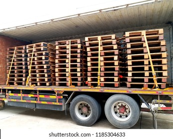 Wood pallets contain in the container.