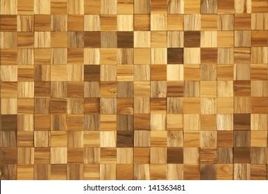 Wood panel wall.