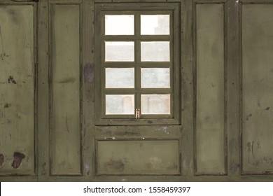 Wood Panel Wall with Window