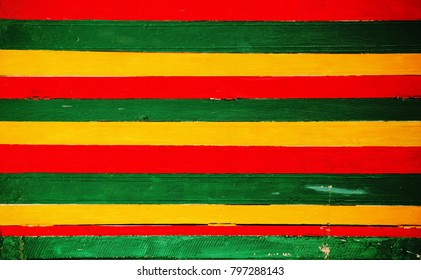 Wood Panel, Wooden Walls Pattern in the colors of reggae style.
