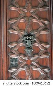 Wood paneled door