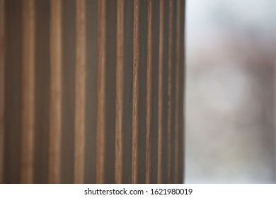 wood paneling in the office building