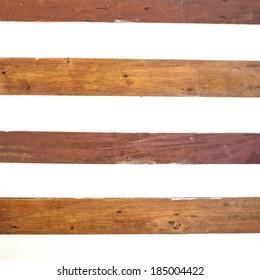 Wood panels design on white wood background
