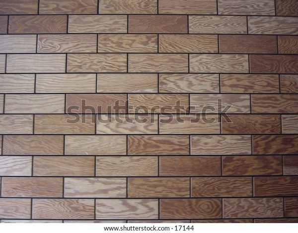 Wood panels on a wall