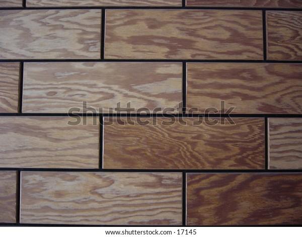 Wood panels on a wall, closeup