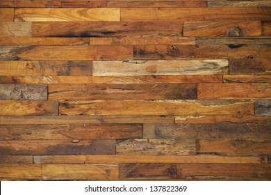 wood panels used as wall