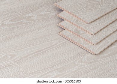 Wood parquet pieces, board for flooring.