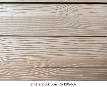 Wood pattern of wood substitute materials, made from fiber cement.