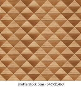 Wood pattern in triangle shape