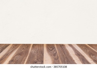 wood plank  floor and cement wall texture background