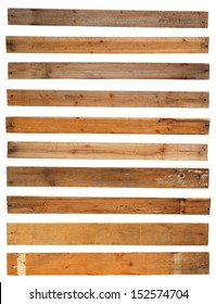 Wood plank, isolated on white background ( Objects with clipping paths for design work )