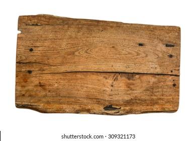 wood plank on white background
