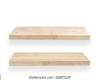 wood planks isolated on white