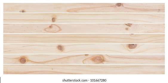 wood planks textures isolated on white