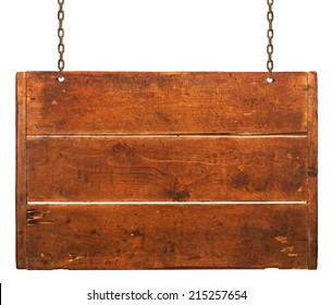 Wood plaque on white background