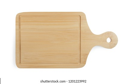 wood plate on white background.