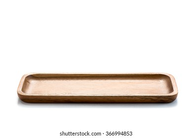 Wood plate on white backgrounds