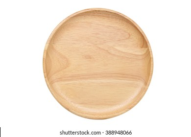 wood plate top view