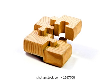 wood puzzle deconstructed