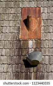 Wood roof - old traditional method for roofing - Cedar roof shingles and shakes are renowned for their insulation qualities, dimensional stability and natural resistance to the elements.