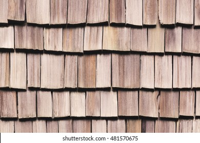 Wood roof texture for background, house exterior decor