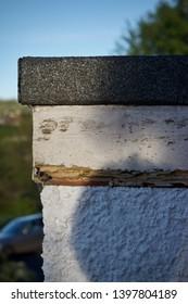 wood rot in a fascia board