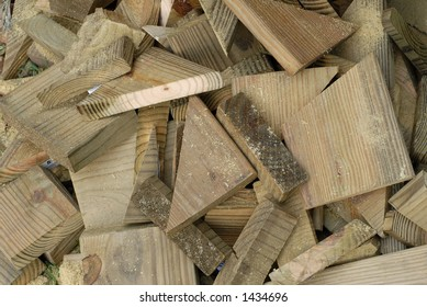 Wood Scraps from Construction Site