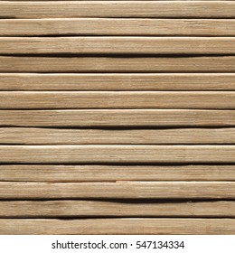 Wood Seamless Background, Bamboo Wooden Plank Texture, Timber Planks Brown Wall