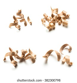 Wood shavings collage