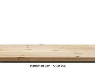 Wood Shelf Table isolated on white background