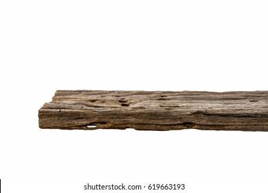 wood shelf, wood white background, isolated