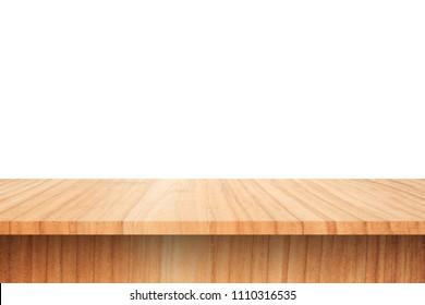 Wood Shelves Table isolated on white background