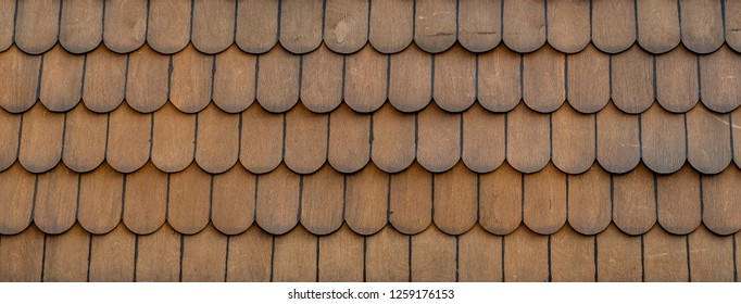 Wood shingle backdrop