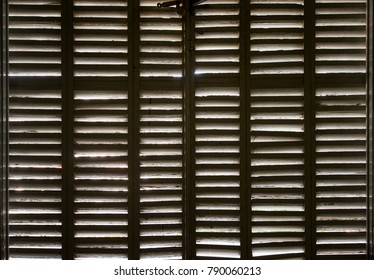wood shutters wooden texture in a dark old house