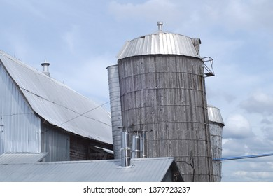 wood silo farm agrigulture farming country sky