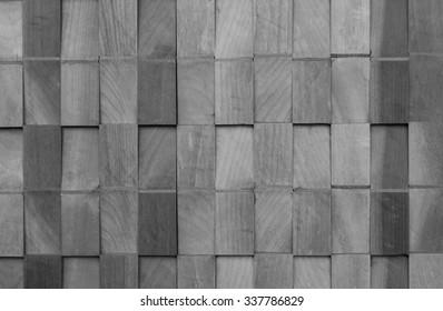 Wood is a square box. monochrome