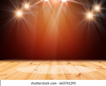 Wood stage theater background