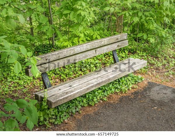 Superb Wood Steel Park Bench End Black Stock Photo Edit Now 657149725 Ibusinesslaw Wood Chair Design Ideas Ibusinesslaworg