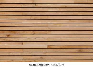 Wood stripes facade building decor