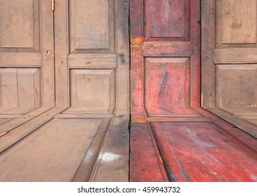 Wood surface floor  texture for background with copy space