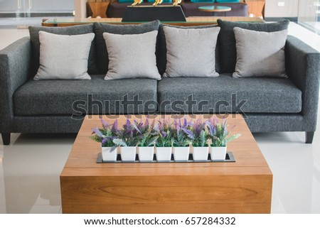 Wood Table Decoration Flower Pot Luxury Stock Photo Edit Now