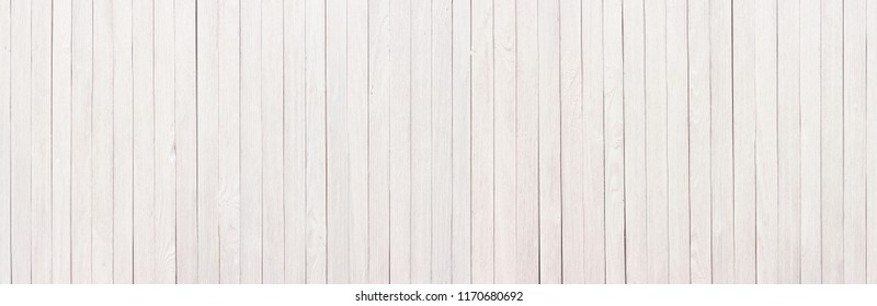 Wood table painted white, wooden texture of a panoramic view
