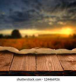 Wood table for your photo montage