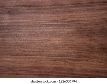 Wood texture of american black walnut veneer with oil wax finish