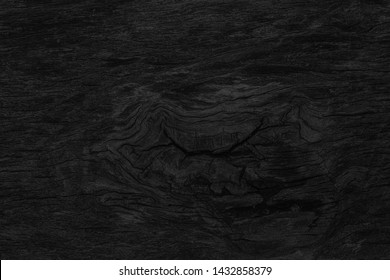 Wood texture background. Black surface of wooden blank for design