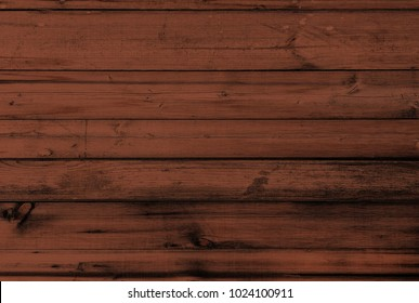 Wood texture background, brown wooden planks. Grunge washed wood table pattern top view