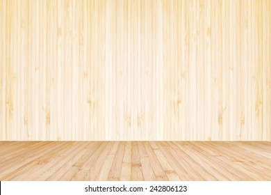 Wood texture background of floor and wall