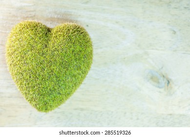 wood texture background natural wood pattern with green heart