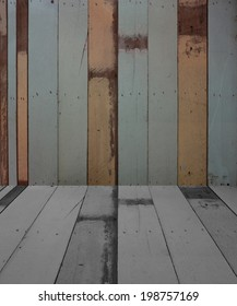 Wood Texture Background Perspective View