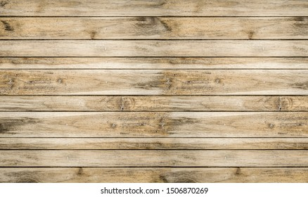 Wood texture background, wood planks table.